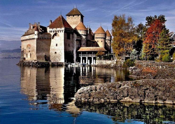 Château de Chillon, Lake Geneva, Switzerland - Pixdaus