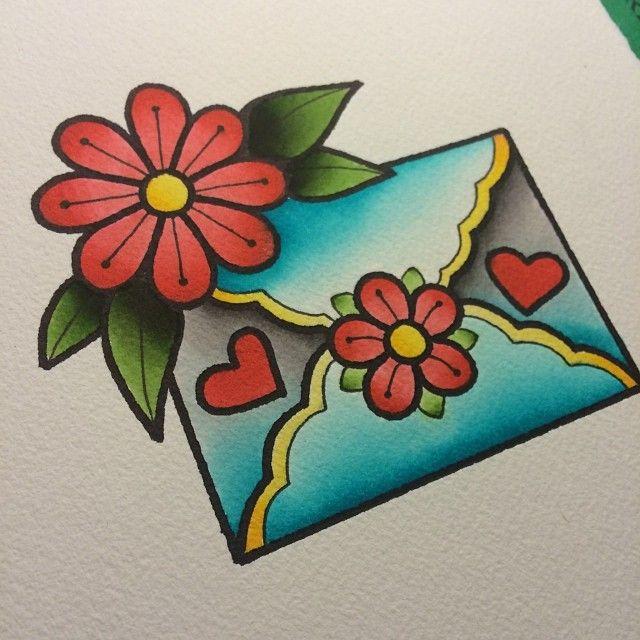 Alex Strangler - Envelope Tattoo