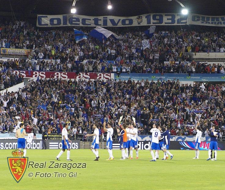 Una bonita imagen del Real Zaragoza