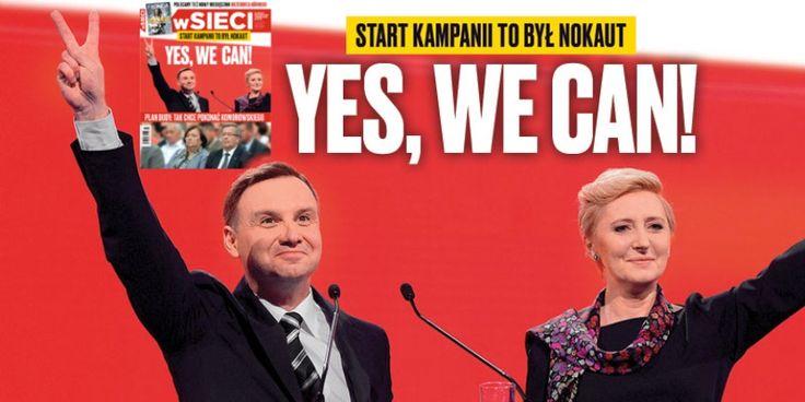 Andrzej Duda z żoną, przyszły prezydent Polski. - Fot. wSieci