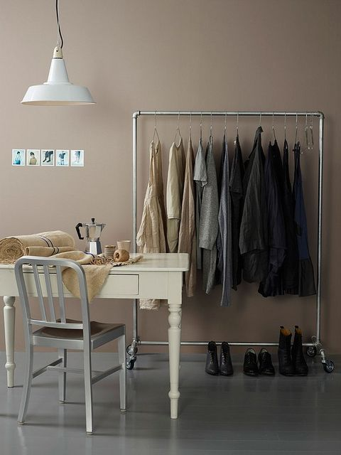 studio clothing rack/collection for wardrobe {storage}. Could be built with Kee Klamp