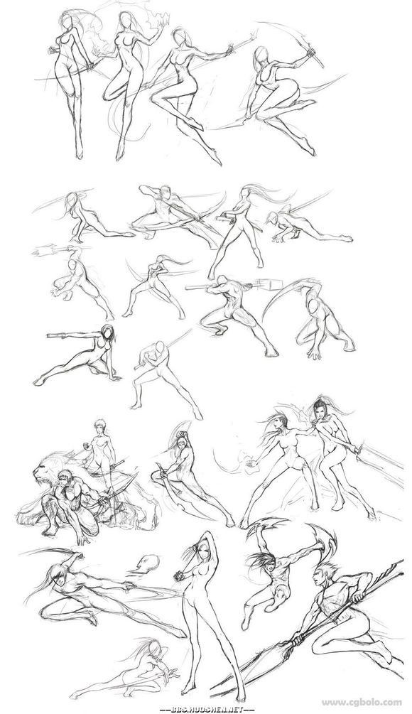 Fighting pose references