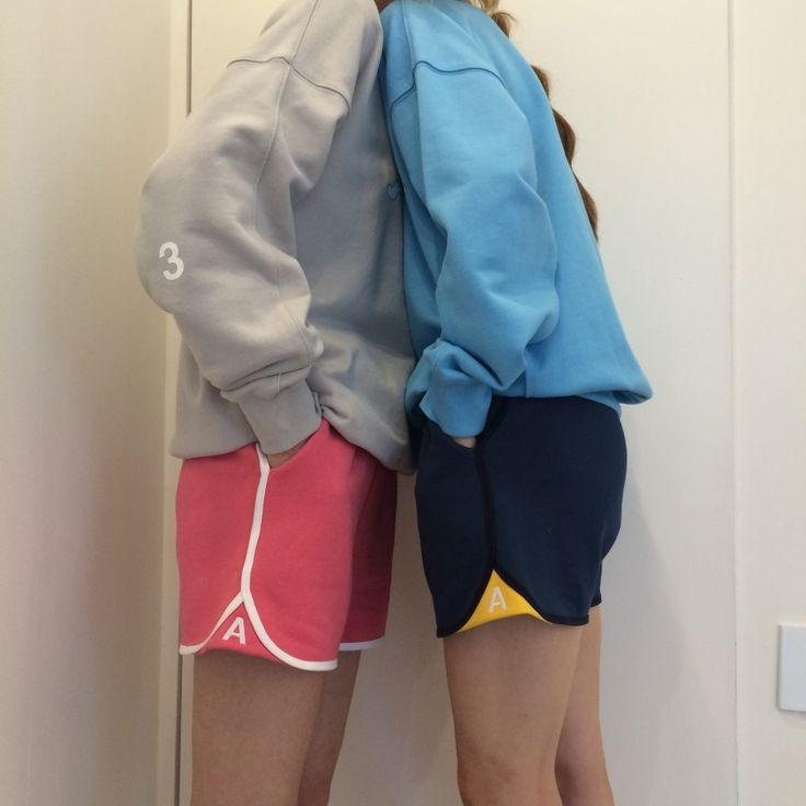 Grey&skyblue Pink&navy twin look