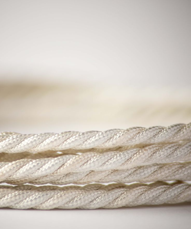 Vintage Fabric Electric Cable - Rice White Twisted - William&Watson