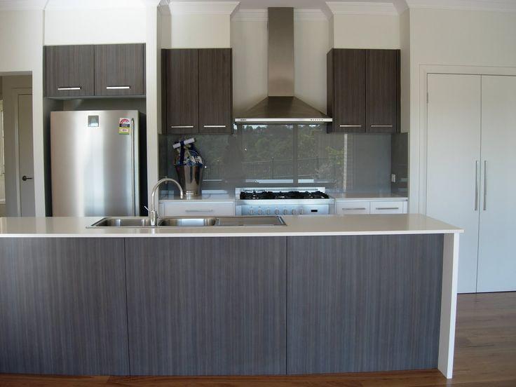 White Kitchen Grey Benchtop