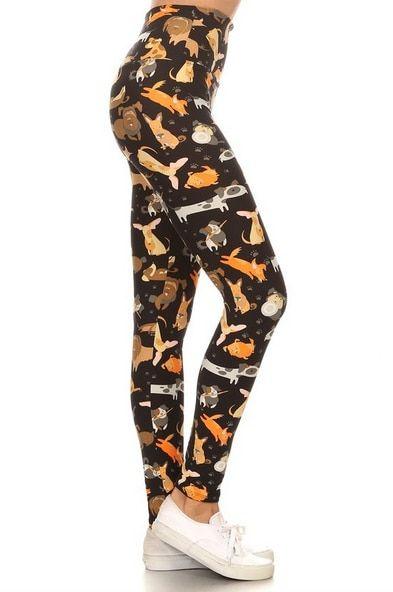 2d8b219a0c02c7 Fur-Tastic - Plus Size Leggings *YOGA BAND* - Free Standard Shipping on All  Orders
