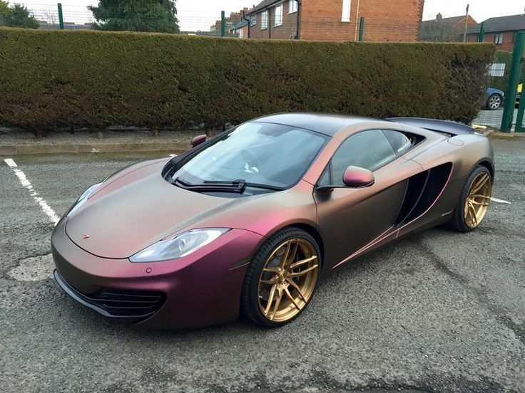Beautiful #McLaren #mp412c fully wrapped in exclusive matte sparkling berry. Awesome work by @apmcustoms for @revitupuk #MakeitStick #PaintisDead
