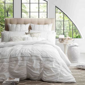 Airana White Duvet Cover Set by Ultima