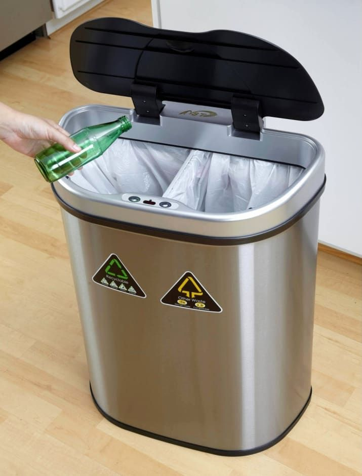 25 Splurgeworthy Products To Treat Your Kitchen To Trash And Recycling Bin Trash Can Recycle Trash
