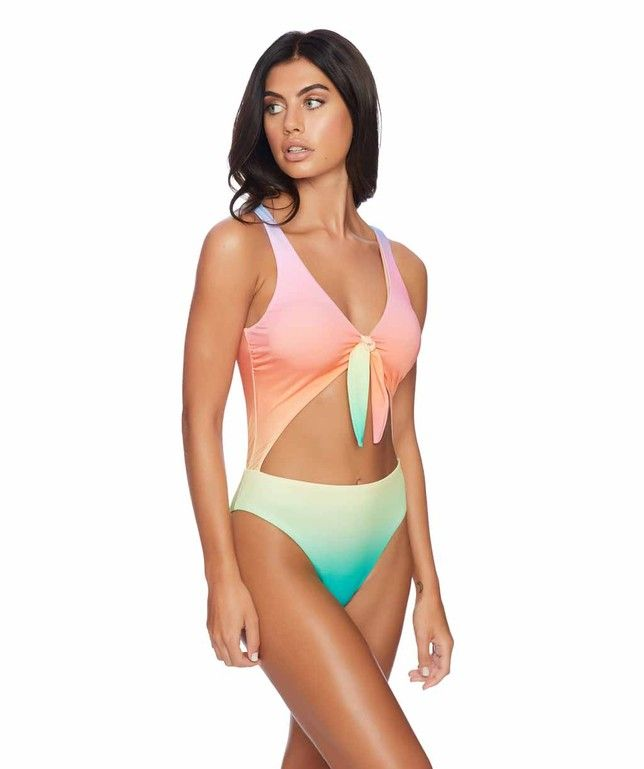 Featured in our new silhouette, the Reef Teen Spirit One Piece offers a tie front with a keyhole cutout for a sporty yet sexy look.  #swimwear http://www.planetgoldilocks.com/swimwear #swimsuit #fashionstyle  #fashion
