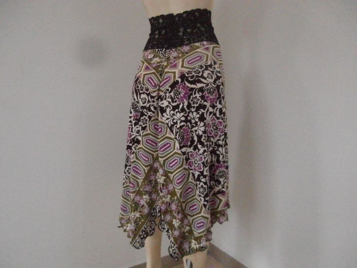 Rushed Back Tango & Salsa  Skirt  Size S fits US 4 and 6  Milonga Dance Wear unique Scarf Print by COCOsDANCEWEAR on Etsy