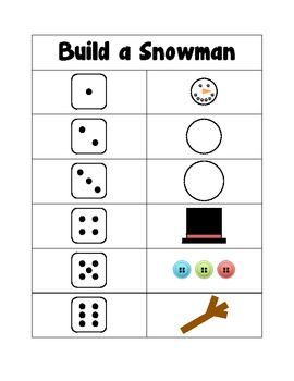Free! Build a Snowman Number Sense Fun!