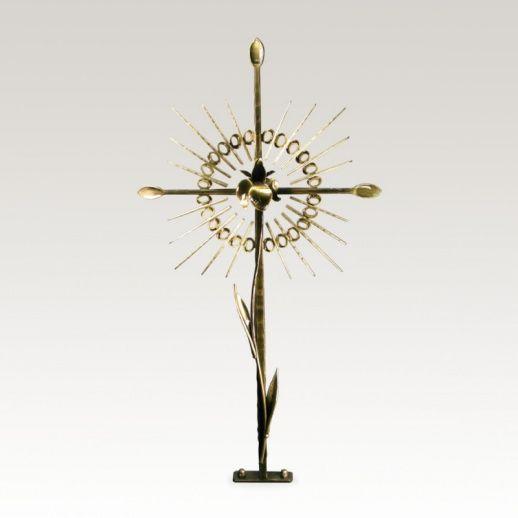 Grabkreuz »Iberico« Heiliges Herz Jesu • Hochwertige Schmiedekunst & Handarbeit • Jetzt versandkostenfrei kaufen bei ▷ Serafinum.de