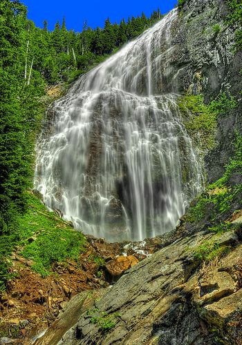 Spray Falls, Mt. Rainier National Park, WA 7.5 miles, 1600 sq. ft. elevation gain - I live so close but have yet to experience this hike.