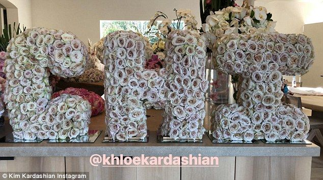 Kim Kardashian shows off Chi flowers from Khloe  Kim Kardashian has been showered with gifts since the arrival of her third child Chicago last week.  But the show-stopper was a beautiful flower arrangement from sister Khloe 33 made of hundreds of blush pink roses spelling out Kims daughters shortened name Chi.  The 37-year-old reality star shared a snap of the huge design sitting on a counter-top alongside some other beautiful floral gifts on Instagram on Thursday and tagged her generous…