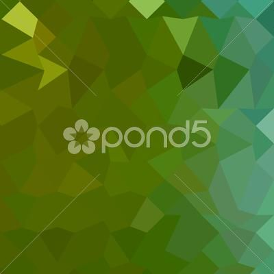 Stock Illustration of Dark Pastel Green Abstract Low Polygon Background