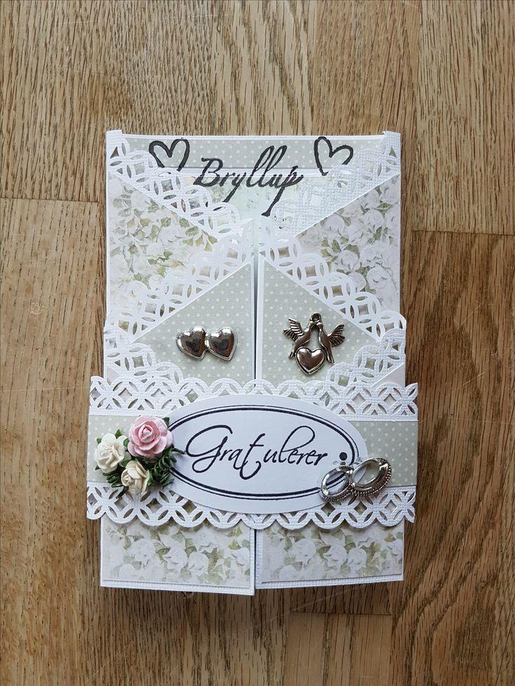 Bryllupskort 2017 - zig zag - utenpå