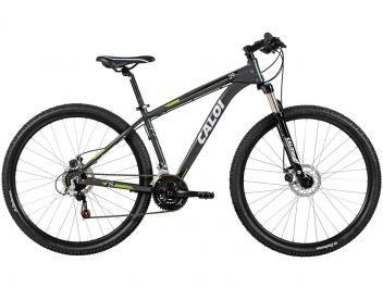 Bicicleta Caloi Aro 29 21 Marchas Câmbio Shimano - Quadro de Alumínio    Para adquirir basta clicar na figura do produto e seguir as instruções para pagamento e entrega.