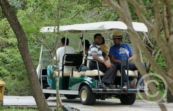 enjoying the buggy ride with Dhanushka and Herath at the back @ THE AMAYA LAKE, DAMBULLA