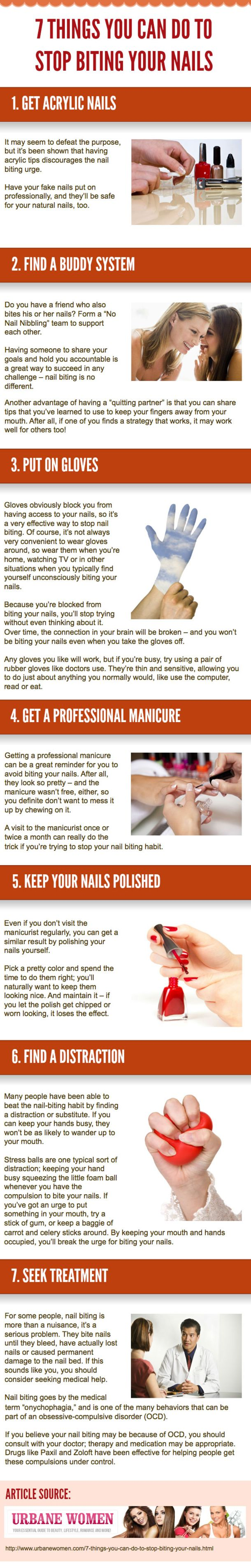 Learn the facts about the habit of nail biting, the negative effects it has on your health, and how to stop.