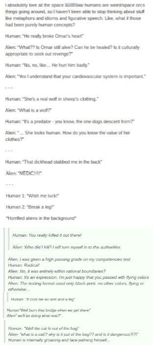 Humans Are Weird / Space Australia Idioms