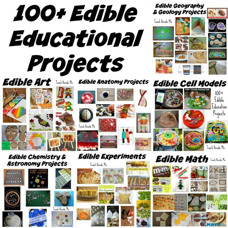 100 Edible Education Projects - Experiments, cell models, astronomy and more.