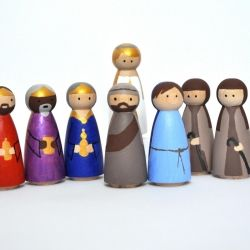29 best nativity peg paint your own images on pinterest nativity create your own christmas nativity scene with these wooden peg people just use acrylic paint solutioingenieria