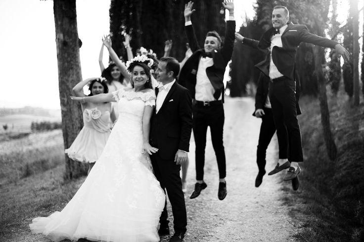Black and white wedding foto