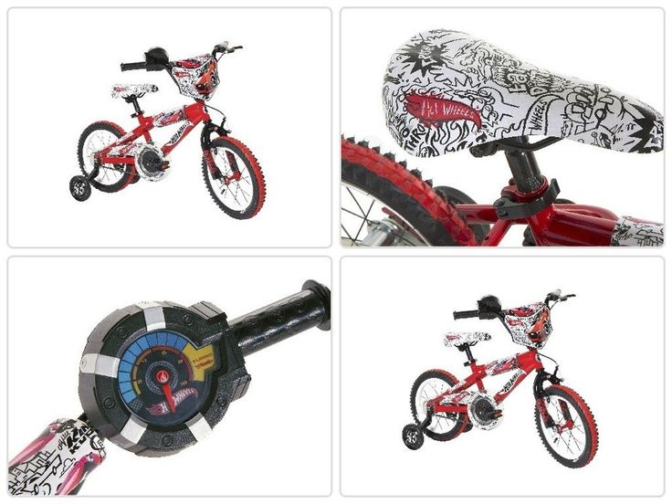 Boys Bike 14 Inch Hot Wheels Training Wheels Outdoor Bicycles Cycling Sport Toy #psdiscount
