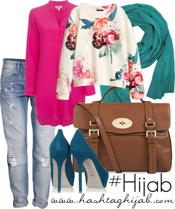 Hashtag Hijab Outfit #255 Casual with pops of color