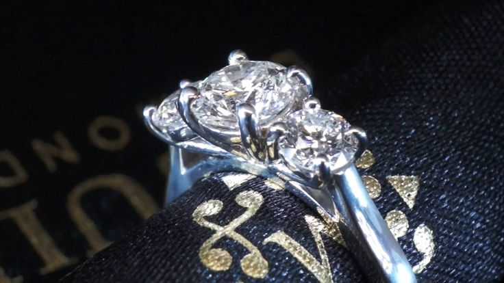 Beautiful trilogy engagement ring.  Collection by McGuire Diamonds