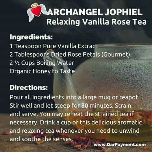 Relaxing Vanilla Rose Tea