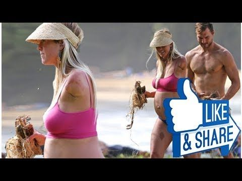 'The hardest part of pregnancy for me is not surfing!' Bethany Hamilton hits the beach with family