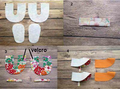 Tutorial cara membuat sepatu bayi dari kain perca 2
