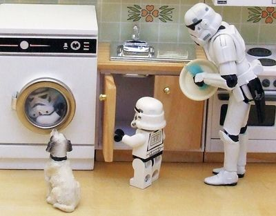 Even stormtroopers have to do chores #starwars #housework