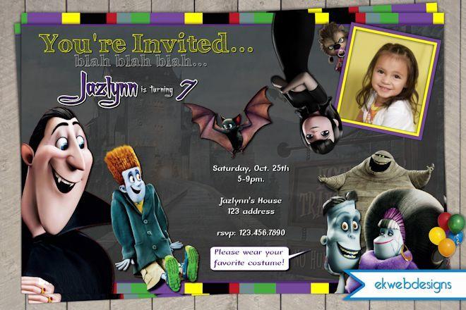 Hotel Transylvania Birthday - Halloween Party Invitation