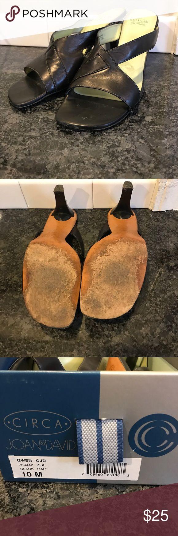 "Joan and David ""Gwen"" Sandal Black heeled sandal, perfect for summertime events! Joan & David Shoes Sandals"