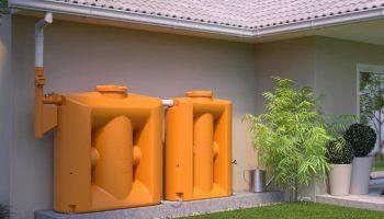 Tanque modular vertical para filtrar y almacenar agua de lluvia para su reutilización
