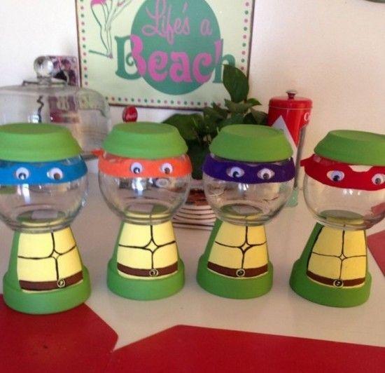 Ninja Turtle Terracotta Pots   Birthday Ideas   Pinterest   Ninja turtles, Terracotta and Turtle