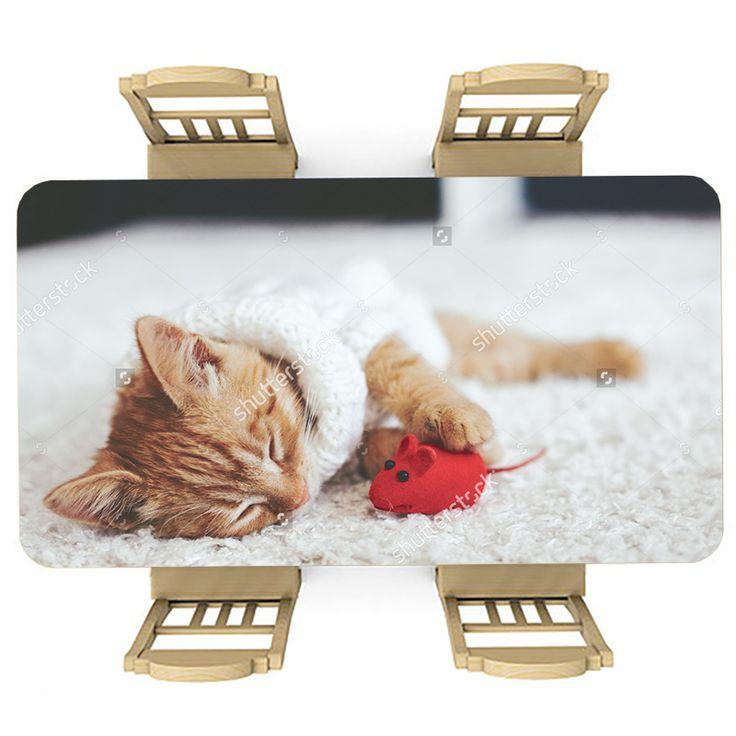 Tafelsticker Welterusten | Maak je tafel persoonlijk met een fraaie sticker. De stickers zijn zowel mat als glanzend verkrijgbaar. Geschikt voor binnen EN buiten! #tafel #sticker #tafelsticker #uniek #persoonlijk #interieur #huisdecoratie #diy #persoonlijk #kat #poes #kitten #lief #huisdier #dier