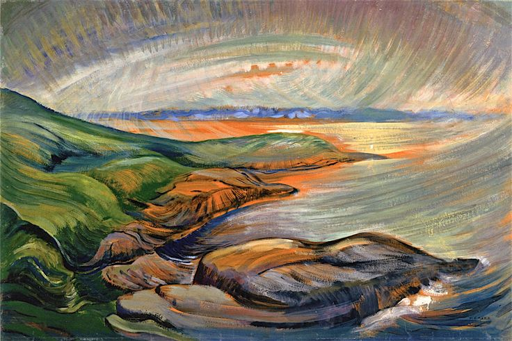 Straight of Juan de Fuca Emily Carr - circa 1936 McMichael Canadian Art Collection (Canada) Painting - oil on paper Height: 60.7 cm (23.9 in.), Width: 91.3 cm (35.94 in.)