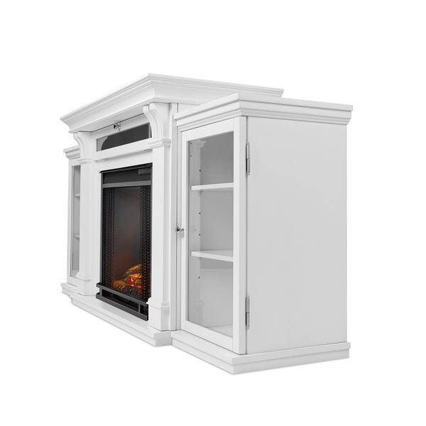 Calie Electric Fireplace Entertainment Center White By Real Flame