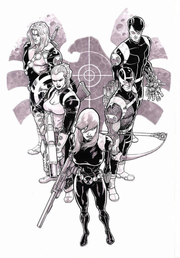 S.H.I.E.L.D. Dream Team - Killraven, Bloodstone, Black Widow, Hawkeye, and Machine Man by Aaron Kuder *