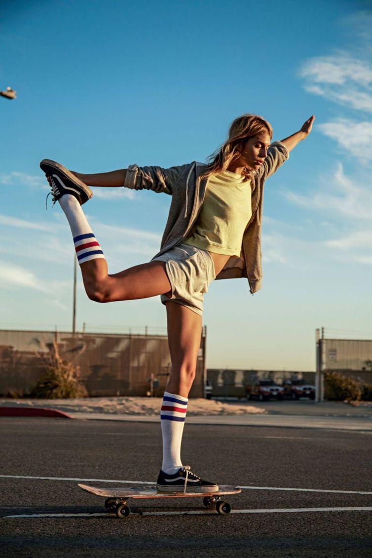Handstand Longboard Skater Chick Meme Wwwmiifotoscom