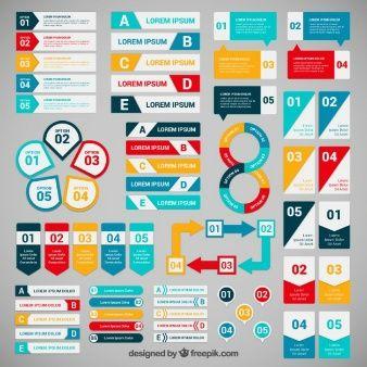 インフォグラフィックのためのカラフルなバナー