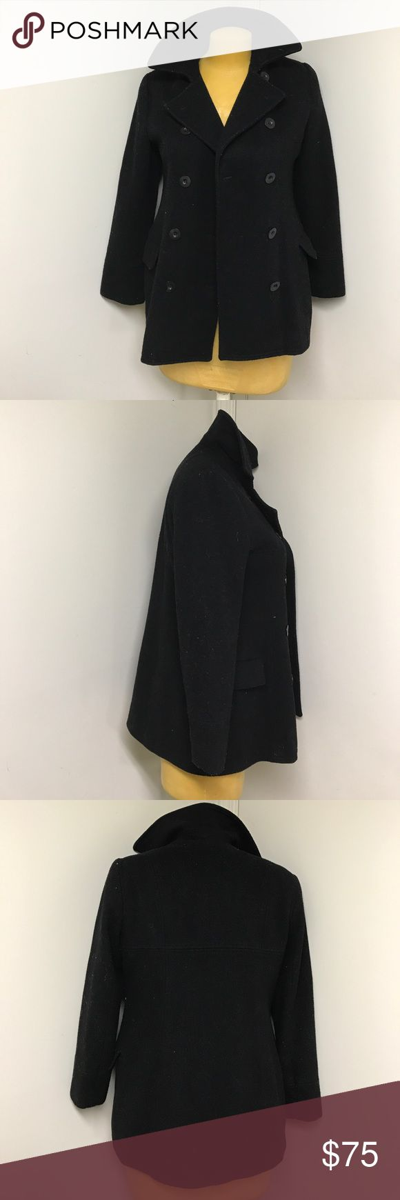 NOT FOR SALE - New York & Company Black Pea Coat Just what you need for the winter!  This coat is dry clean only. If you are seriously interested let me know and I will have it dry cleaned before the sale. I just don't want to lower my average shipping time :) New York & Company Jackets & Coats Pea Coats