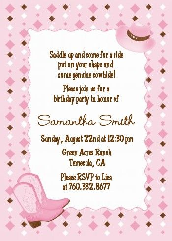83 best country themed invites images on pinterest | cowgirl party, Birthday invitations