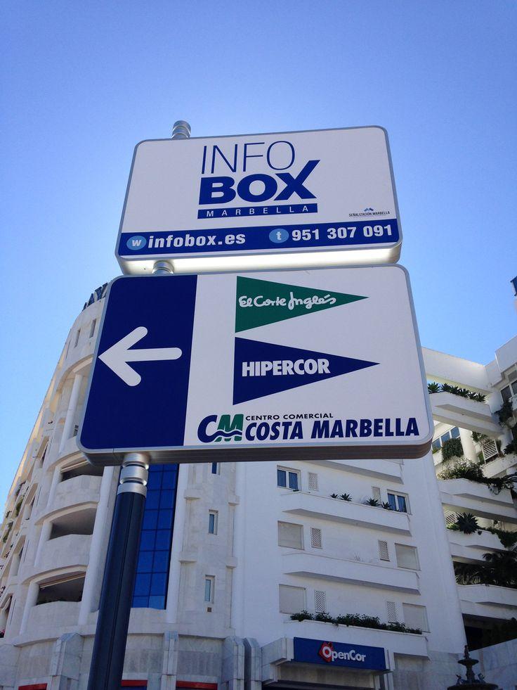 Diseño de Cartelería InfoBox comercial para Señalización Marbella