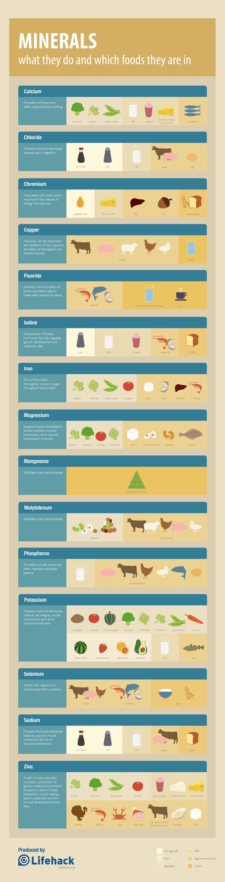 Great Infographic on minerals: what they do/which foods they r in