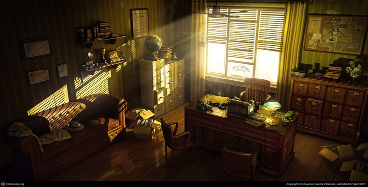 How I imagine LC's virtual office!  Detective´s Office by Eugenio García Villarreal  http://artecnl.cgsociety.org/art/blender-detectives-office-3d-975390
